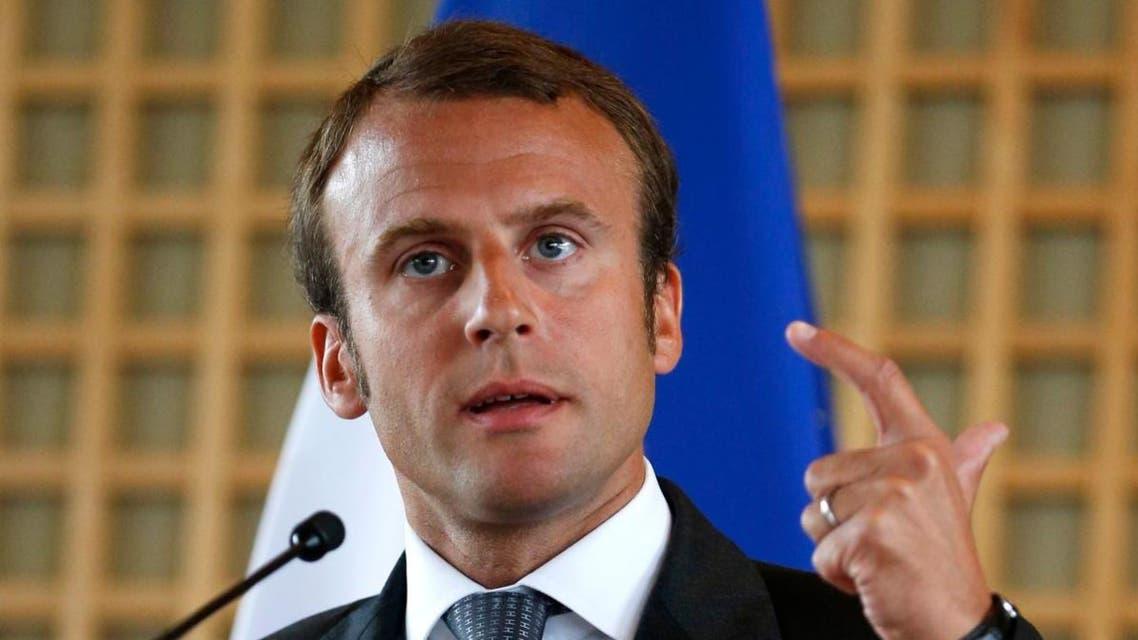 المرشح لانتخابات الرئاسة الفرنسية إيمانويل ماكرون