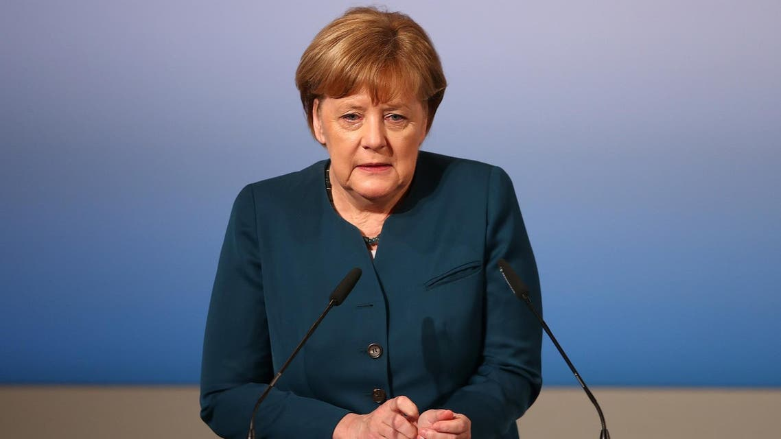 German Chancellor Merkel delivers her speech during the 53rd Munich Security Conference in Munich. (Reuters)