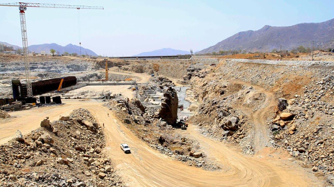 A general view shows construction activity at the Grand Renaissance dam in Guba Woreda, Benishangul Gumuz region March 16, 2014. (Reuters)