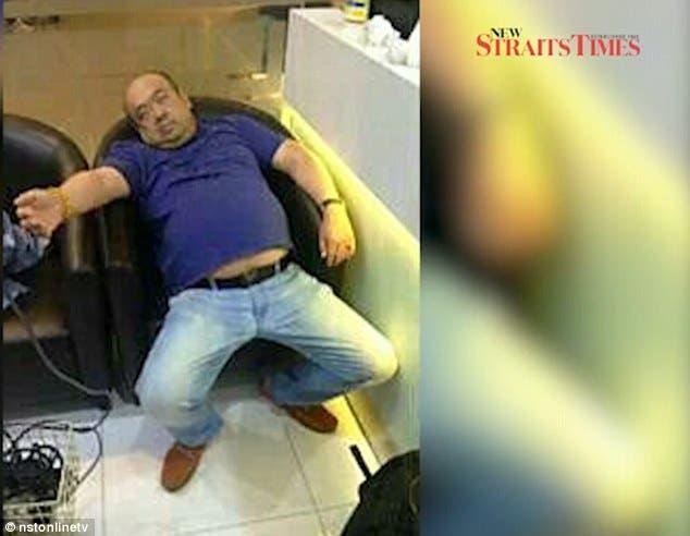 الضحية يحتضر في مطار كوالالمبور