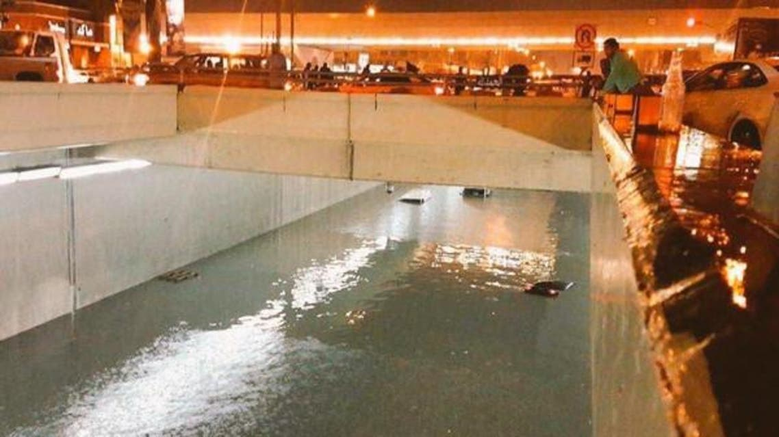 Submerged cars were left stuck inside tunnels and areas clogged in rain. (Supplied)