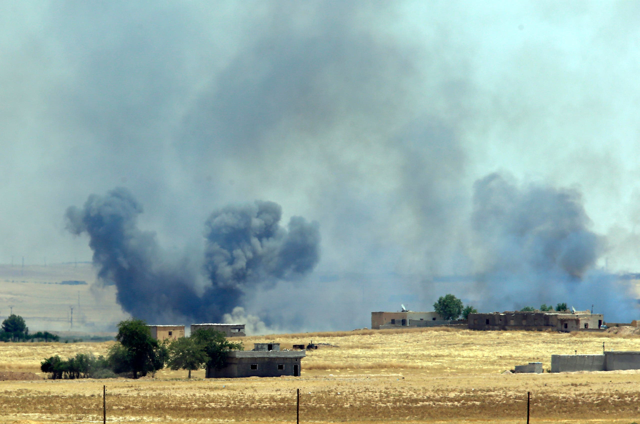 The US-led coalition has been pounding the Raqqa area regularly for months. (File photo: AP)