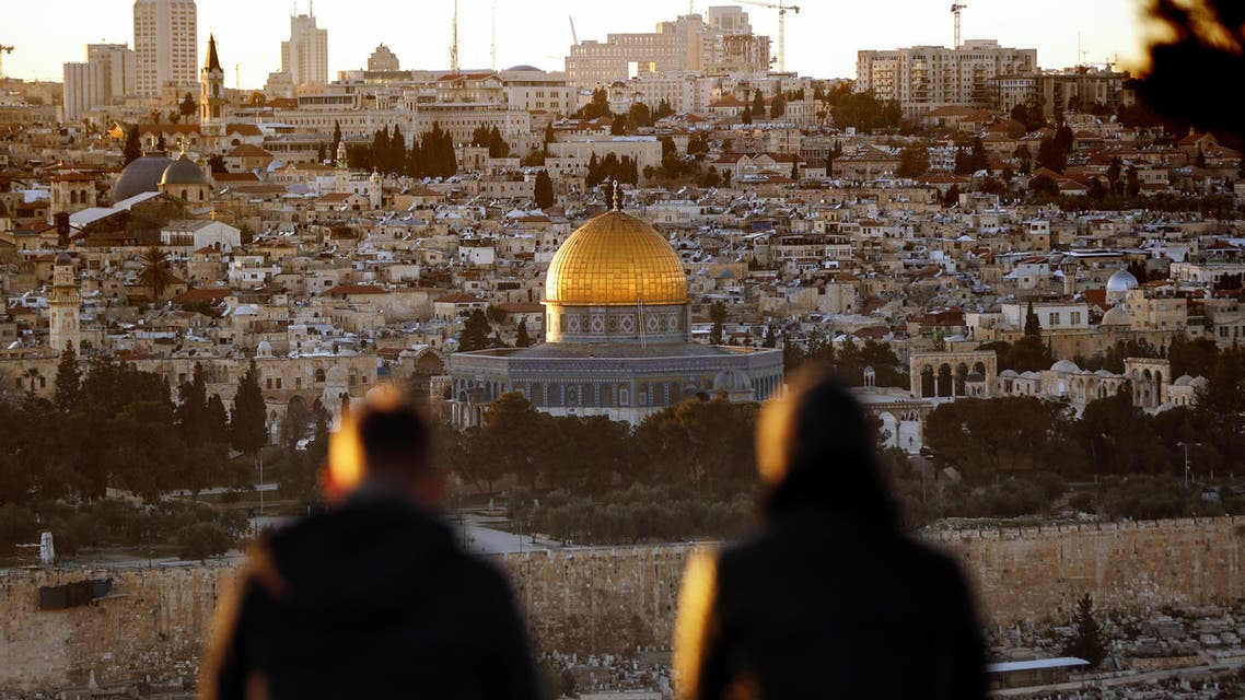 قبة الصخرة يأمل الفلسطينيون بإقامة دولتهم المستقلة وعاصمتها القدس الشريف
