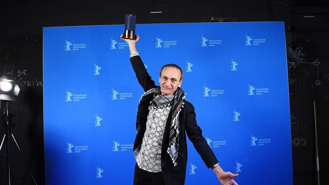 Palestinian director Raed Andoni wins Berlinale award. (AFP)