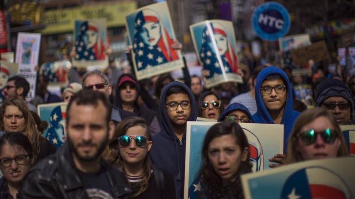 مظاهرات ضد قرار ترمب حظر السفر