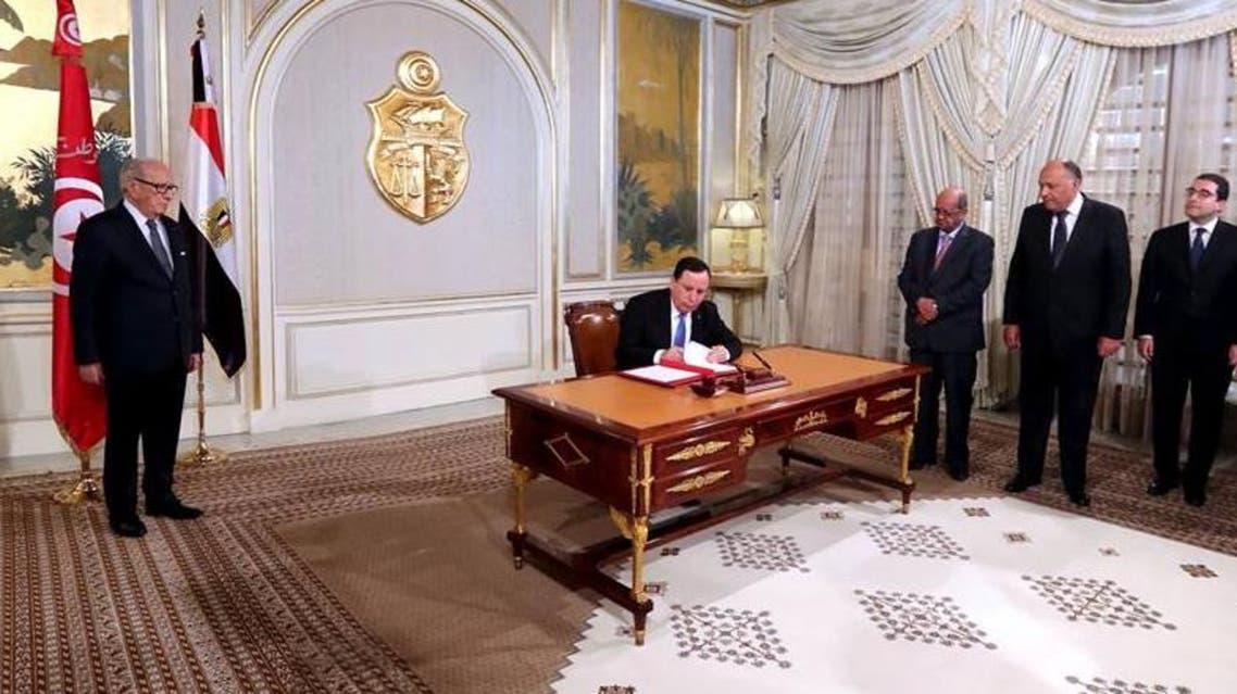وزراء خارجية مصر و تونس و الجزائر