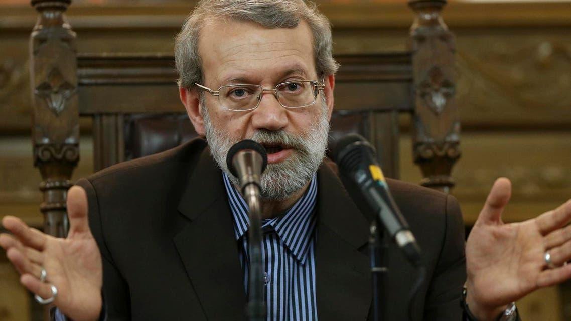 Iranian parliament speaker Ali Larijani speaks during a press conference in Tehran, Iran (Photo: AP/Vahid Salemi)