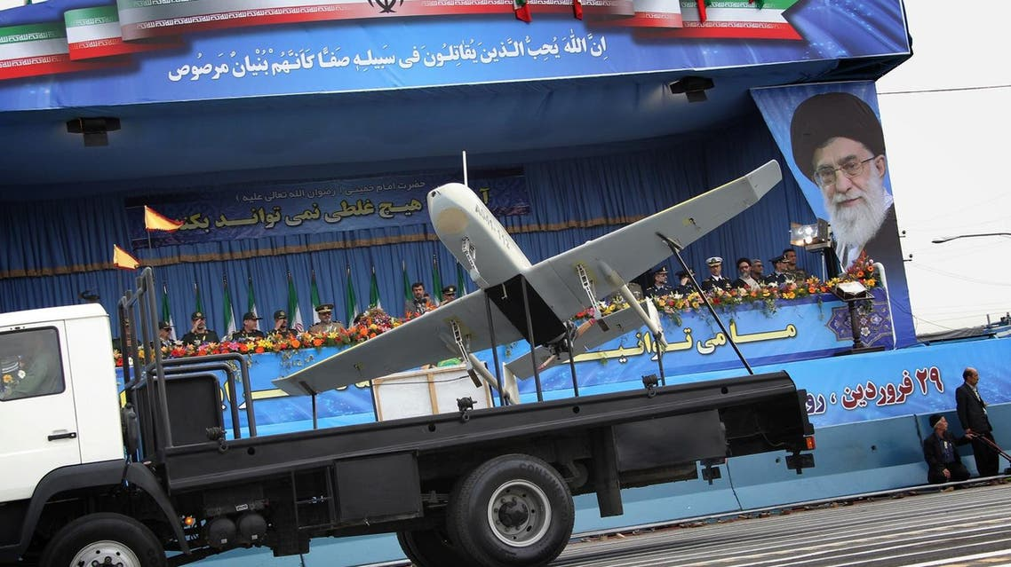An Iranian-made drone is paraded during the Army Day celebrations in Tehran on April 18, 2010. (AFP)
