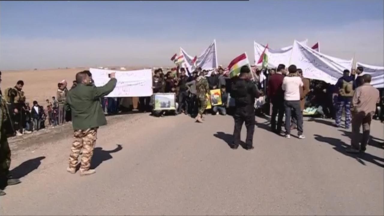 تظاهرات عليه حشى شعبى غرب موصل