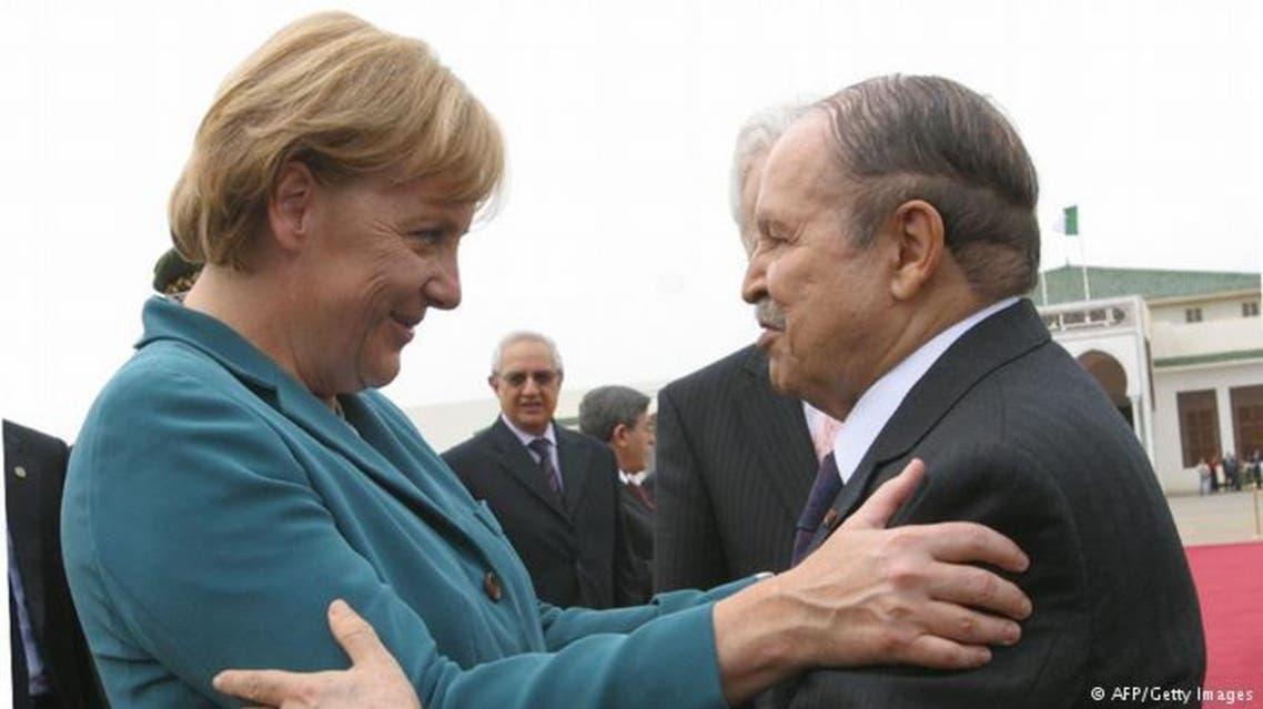 الرئيس الجزائري عبد العزيز بوتفليقة والمستشارة الألمانية أنغيلا ميركل