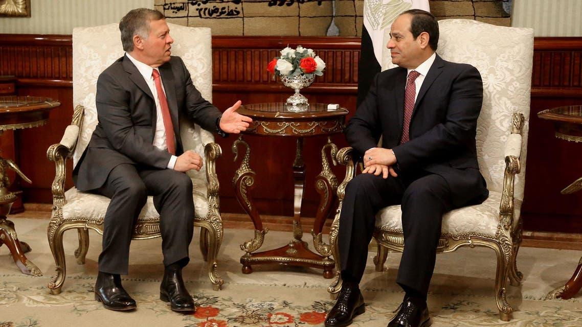الرئيس عبدالفتاح السيسي والعاهل الأردني الملك عبدالله الثاني - مصر الأردن 3