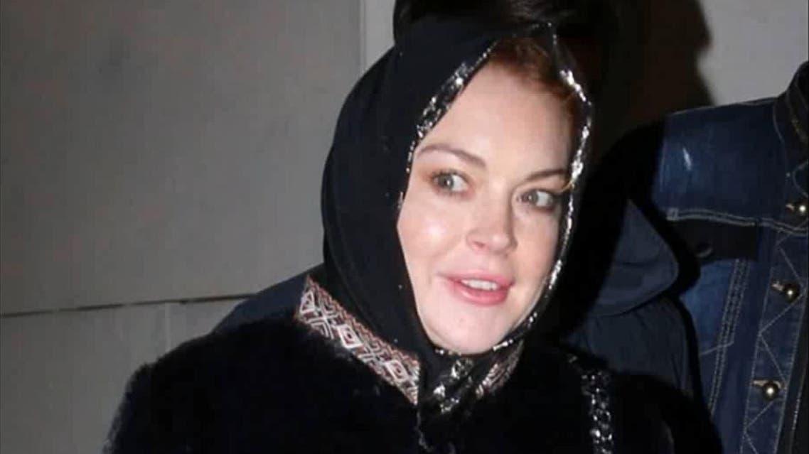 lindsay lohan headscarf