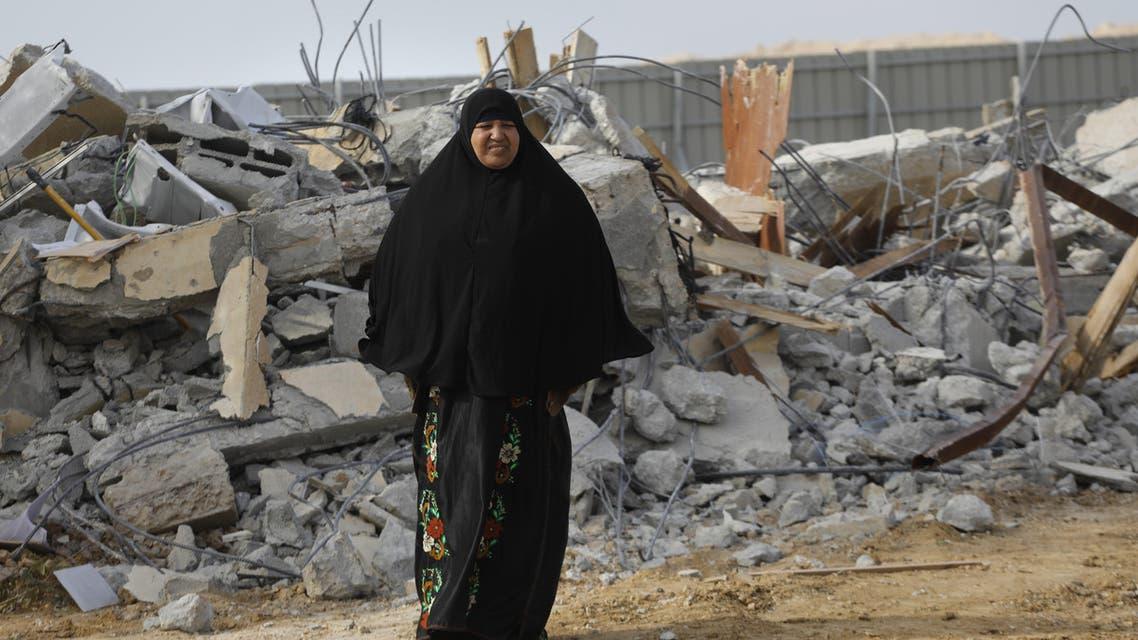 هدم مساكن بدو في إم الحيران البدوية - فرانس برس
