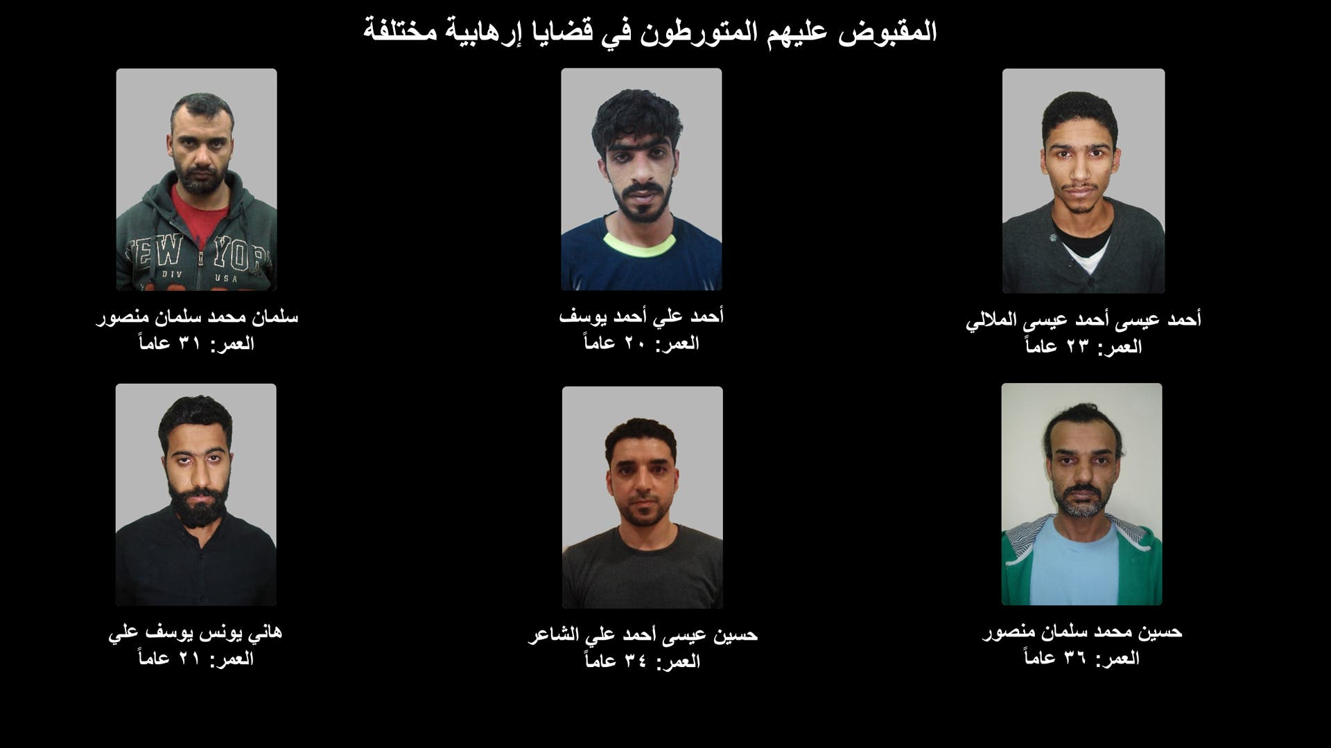 Bahrain arrests 20 terror suspects, including four women