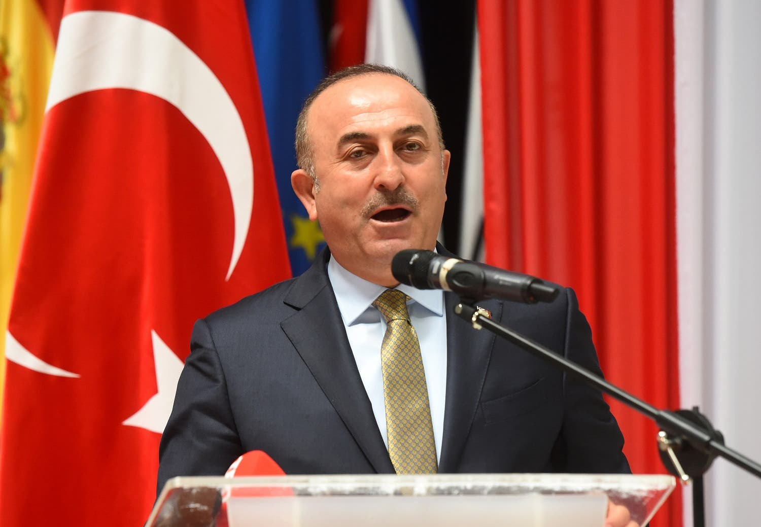 Foreign Minister Mevlut Cavusoglu lashed out at Iran in a speech to the Munich Security Conference at the weekend. (AFP)