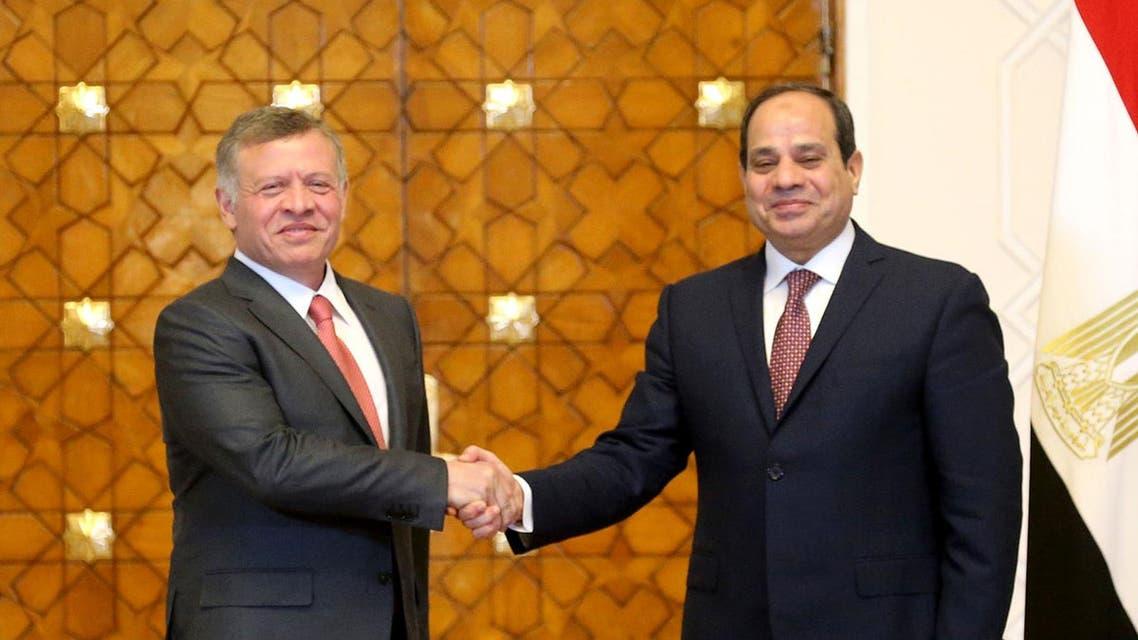مصر - الأردن - السيسي الملك عبد الله الثاني 3
