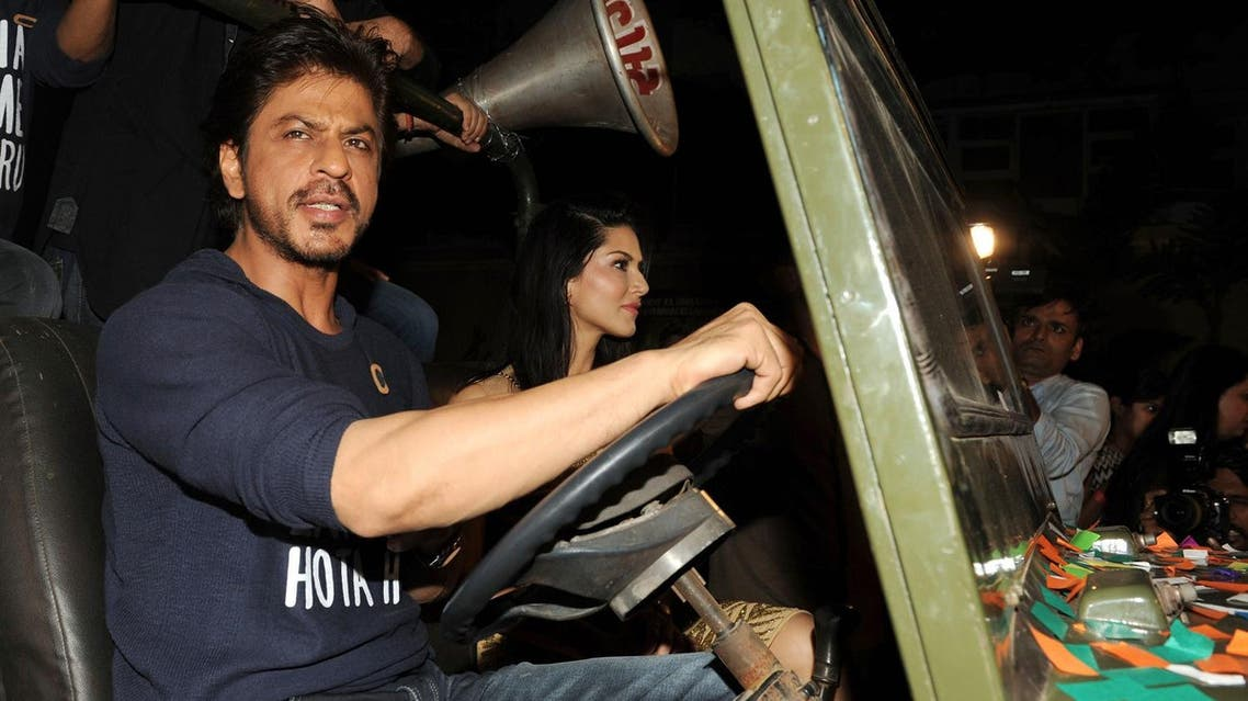 Shah Rukh Khan on his way to the success party of his film 'Raees' in Mumbai on January 30. (AFP)