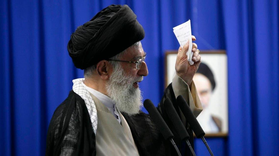 Iran's Supreme Leader Ayatollah Ali Khamenei delivers a sermon during Friday prayers at Tehran University June 19, 2009. (Reuters)