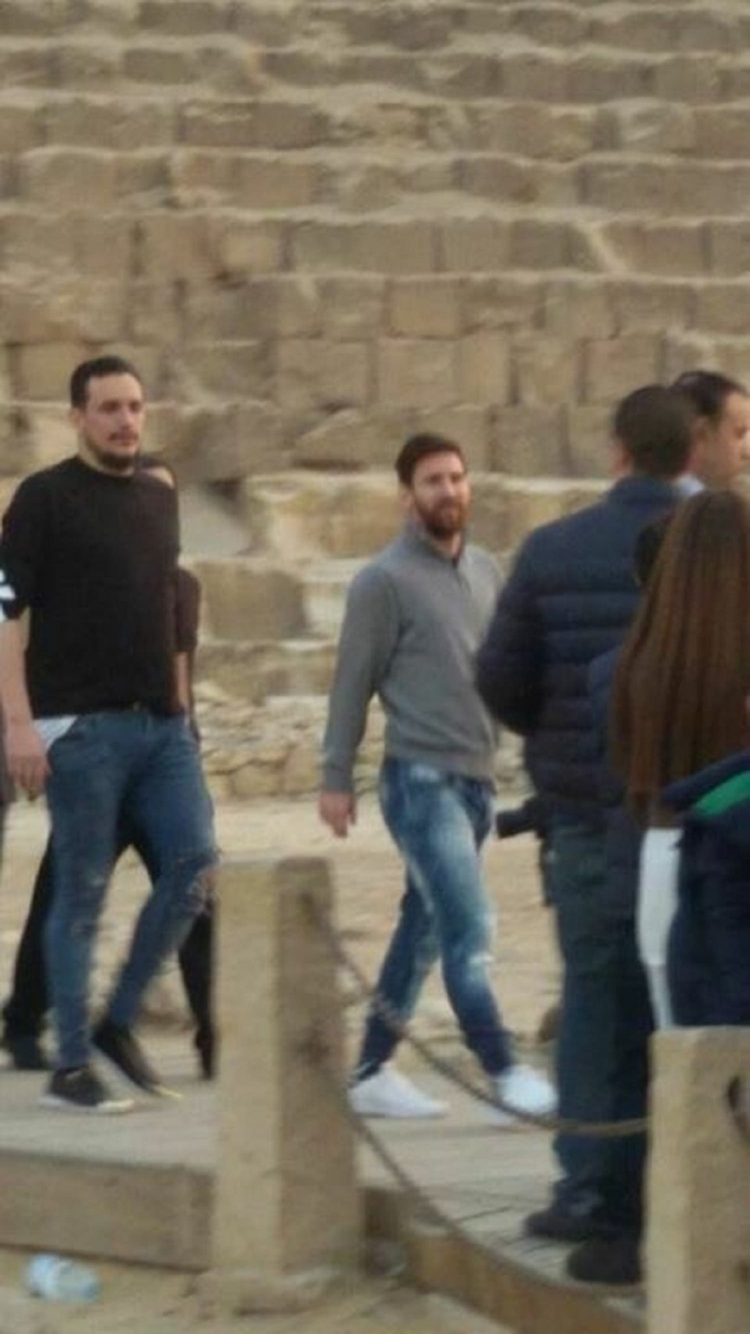Messi in Egypt. AFP