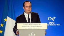 Hollande: France insists on two-state Mideast peace deal