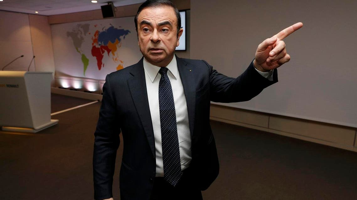 Carlos Ghosn leaves after the presentation of Renault's 2016 annual results at their headquarters near Paris on February 10, 2017. (Reuters)