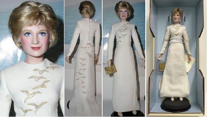 وصنعوا في أميركا دمية للأميرة ديانا، مرتدية فستان الصقر الذهبي، بسعر 75 دولارا للدمية