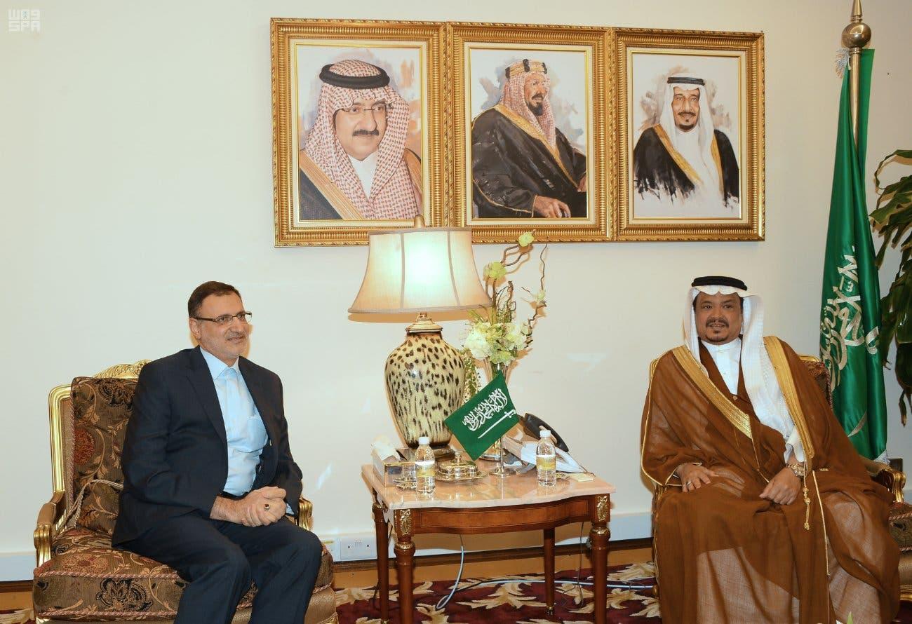 وزير الحج والعمرة مع رئيس منظمة الحج والزيارة الإيراني