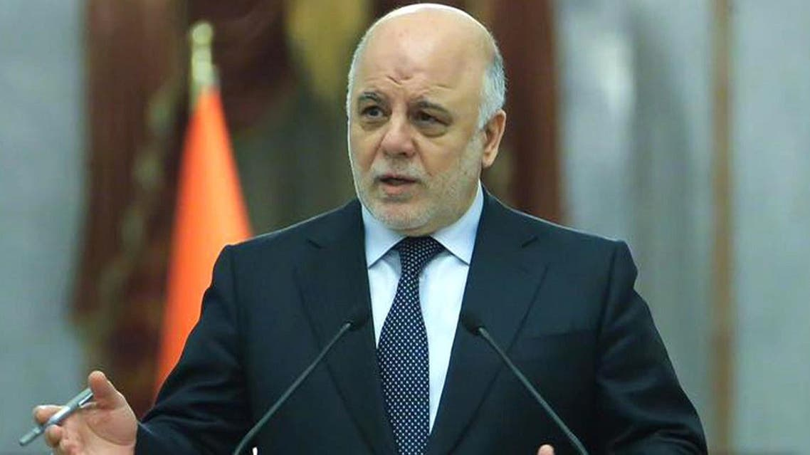 A handout picture released by the Iraq Prime Minister's Press Office on January 31, 2017, shows Iraqi Prime Minister Haidar al-Abadi (C) speaking during an official meeting in the capital Baghdad. (AFP)