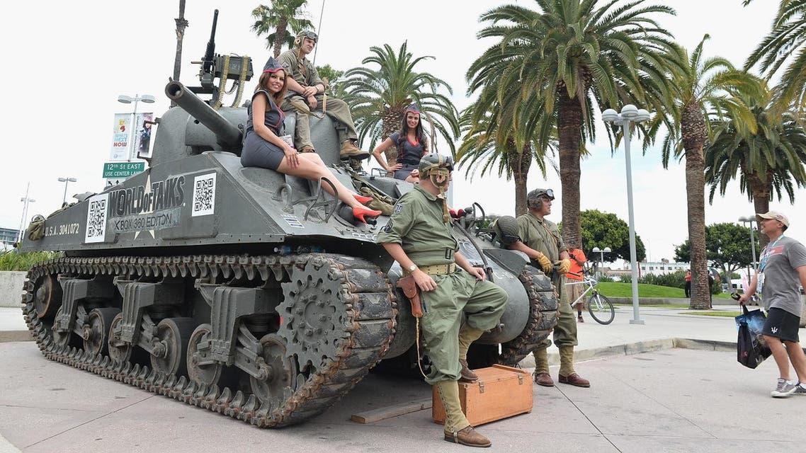 """World of Tanks"" video game display. AFP"