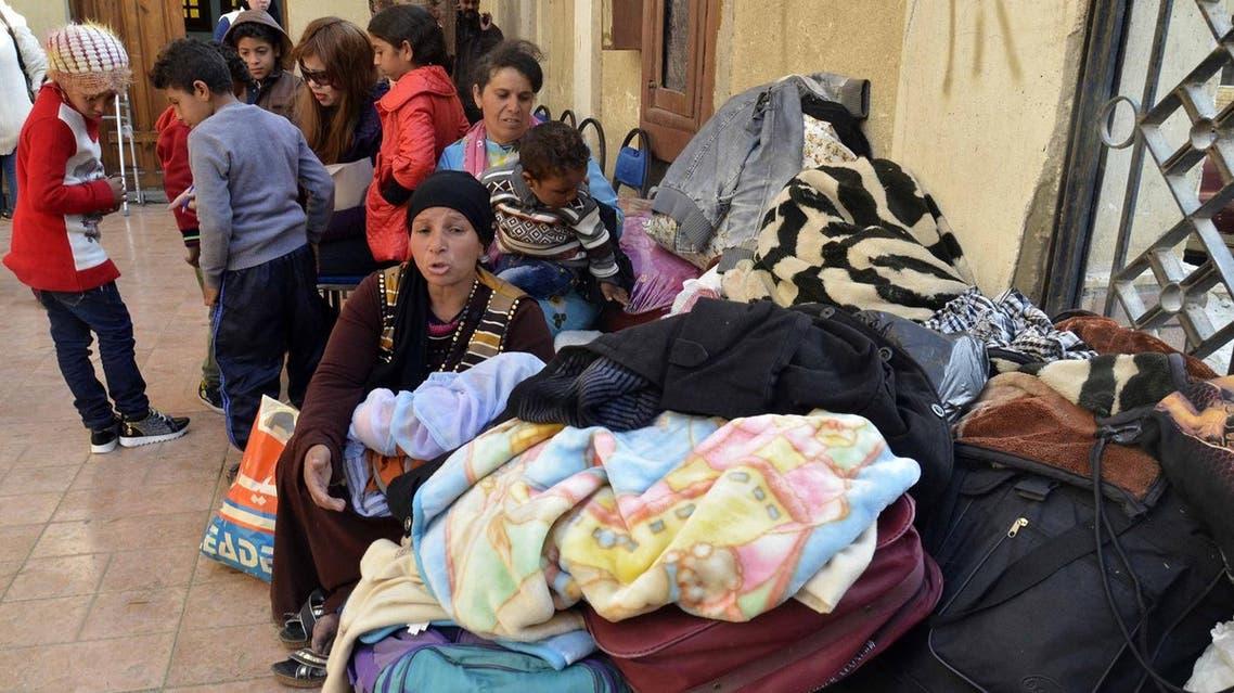 Copts fleeing Sinai. AFP