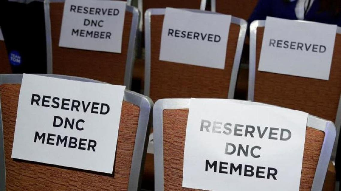 Seats are reserved for Democratic National Committee members during a Democratic National Committee forum in Baltimore, Maryland, US, February 11, 2017. (Reuters)