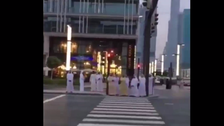 WATCH: Dubai ruler leads pedestrians by example