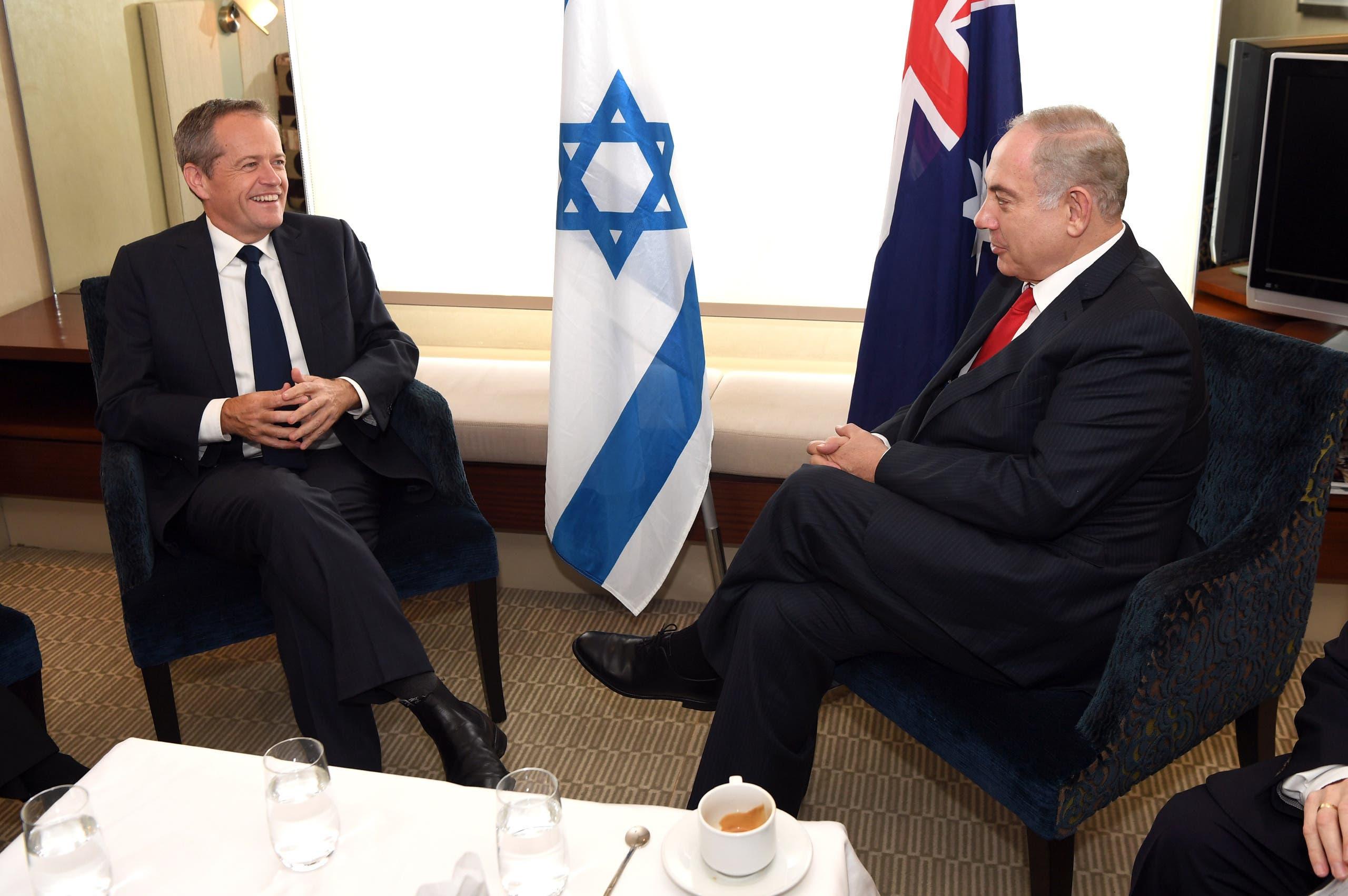 زعيم المعارضة الأسترالية مع نتنياهو