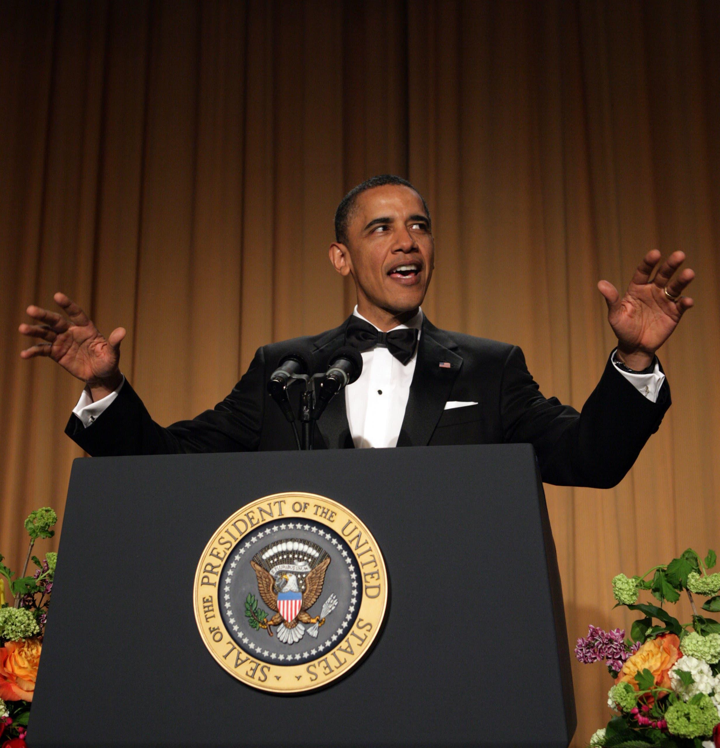 أوباما في العشاء السنوي عام 2011 الذي سخر فيه من ترمب