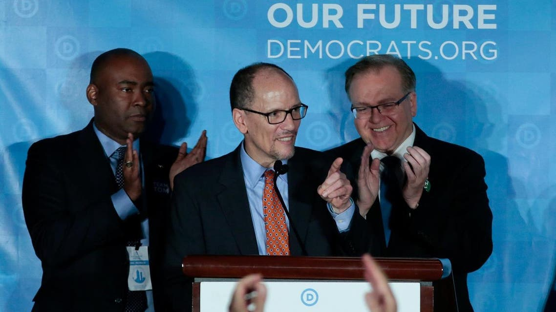 Tom Perez addresses the audience after being elected Democratic National Chair during the Democratic conference. Reuters
