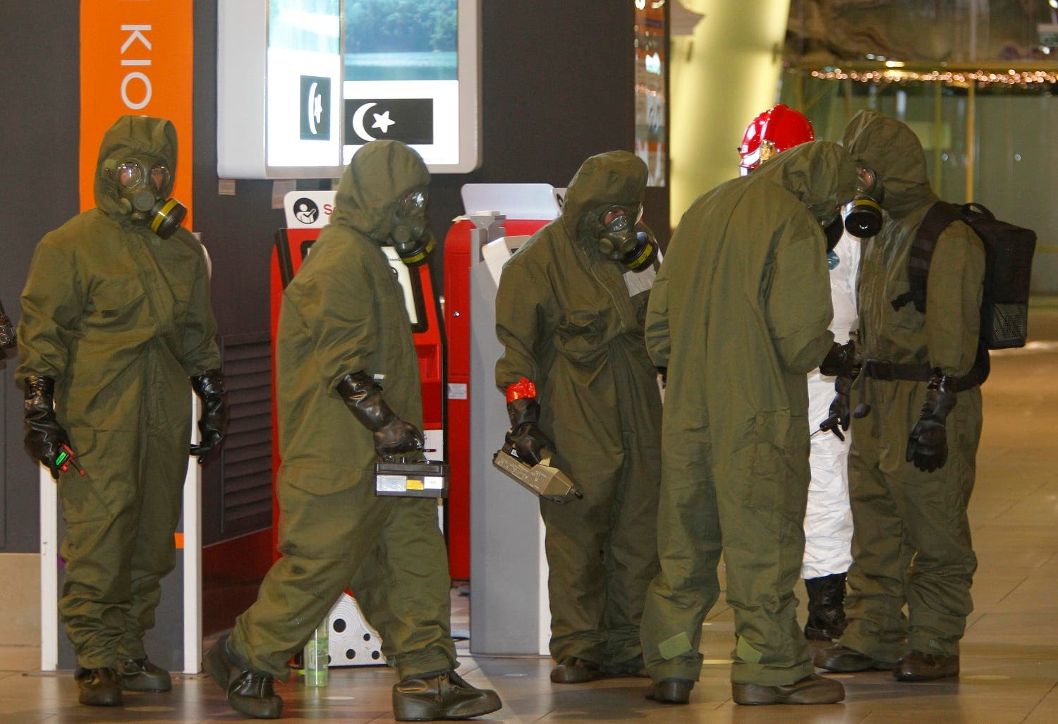 Malaysian police order a sweep of Kuala Lumpur airport for toxic chemicals and other hazardous substances (File Photo: AP/Daniel Chan)