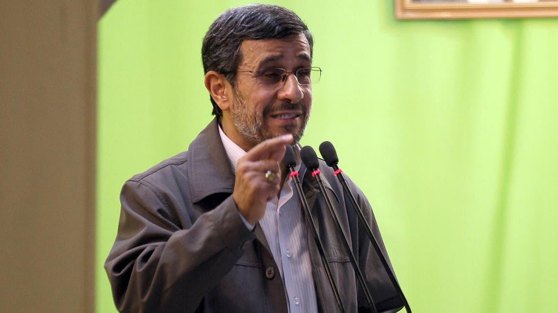 Iranian President Mahmoud Ahmadinejad adresses his weekly Friday prayer sermon at Tehran University on August 2, 2013. (AFP)