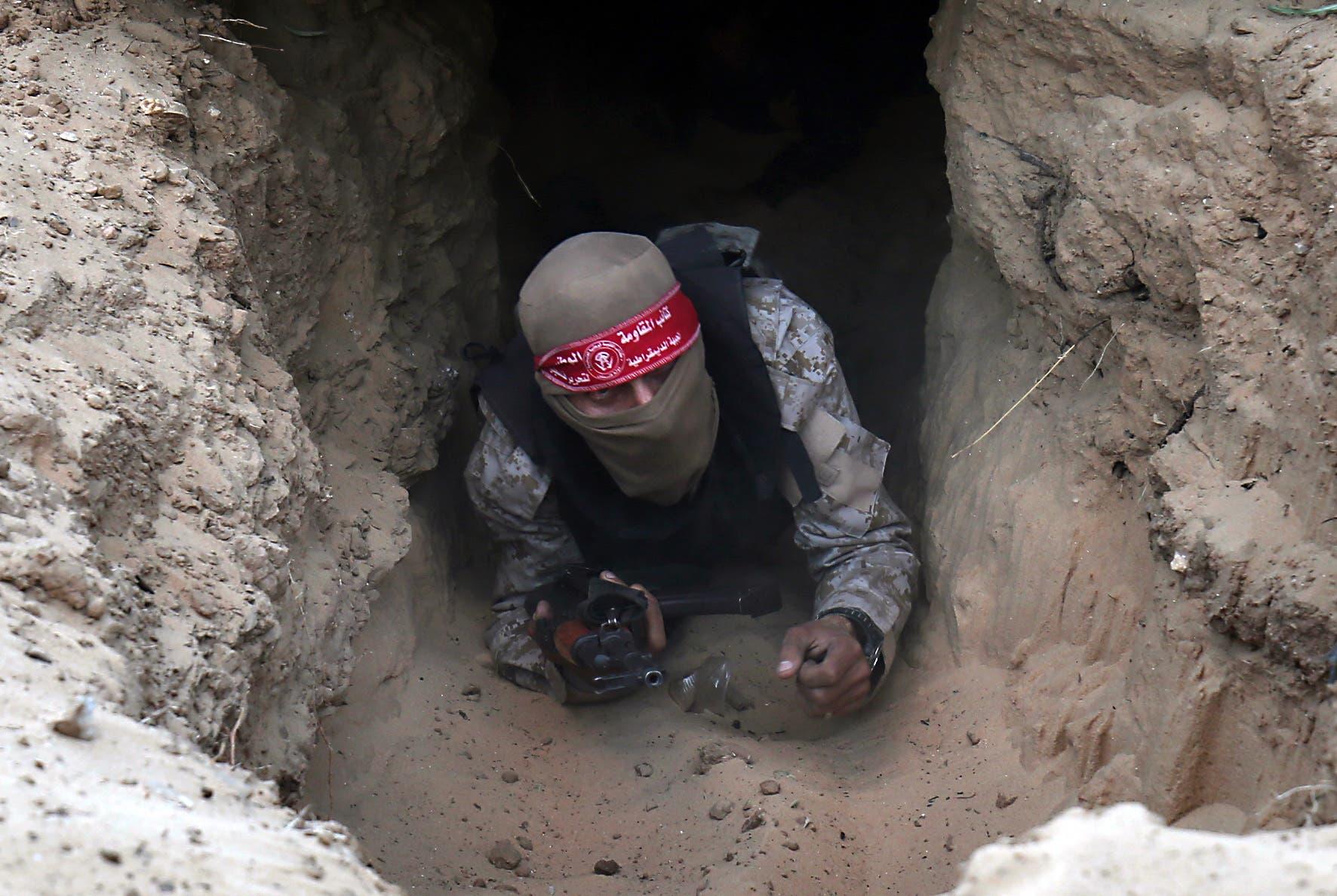 نفق تستخدمه الفصائل في غزة