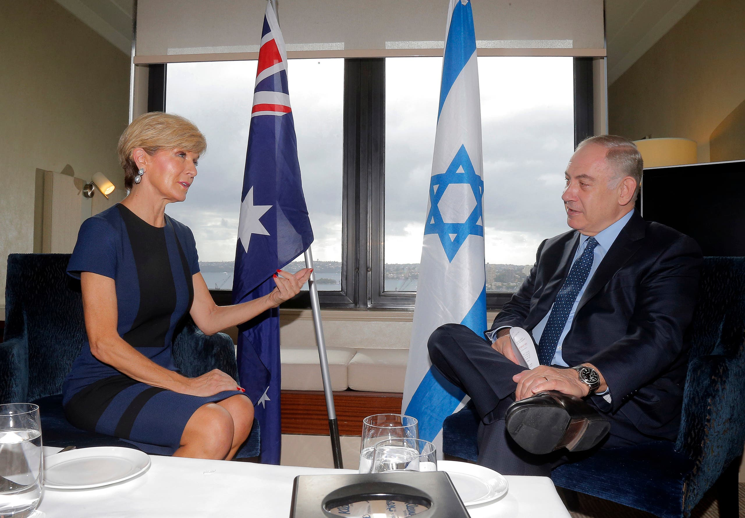 نتنياهو ووزير خارجية أستراليا