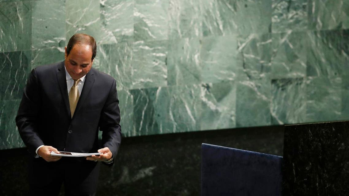 Egyptian President Abdel Fattah el-Sisi after giving a speech at the UN (File Photo: AP /Mary Altaffer)