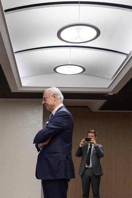 المبعوث الدولي إلى سوريا دي ميستورا في جنيف