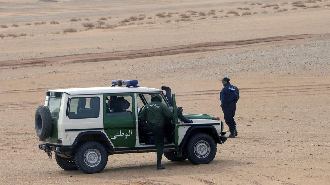 An Algerian police patrol vehicle. (AFP)
