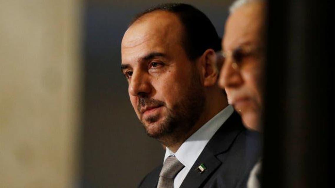 نصر الحريري رئيس وفد المعارضة السورية إلأى جنيف4 27 فبراير