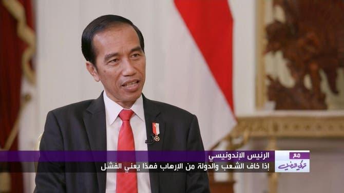 لقاء الرئيس الإندونيسي مع تركي الدخيل