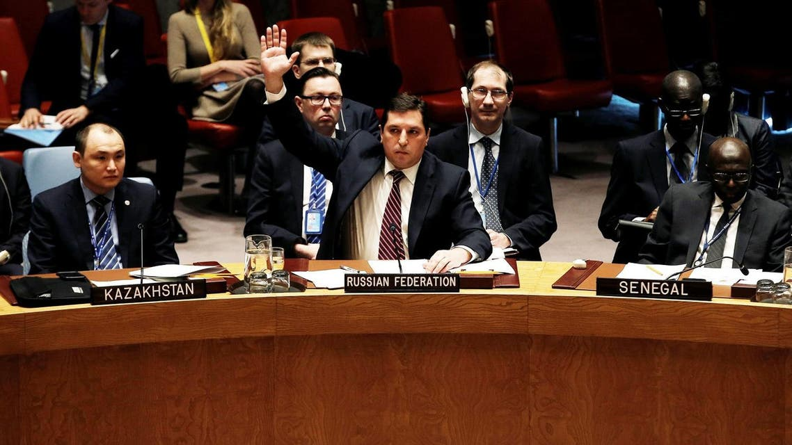 US Ambassador to the United Nations Nikki Haley sits in the UN Security Council before voting on resolution at UN headquarters in New York City. (Reuters)