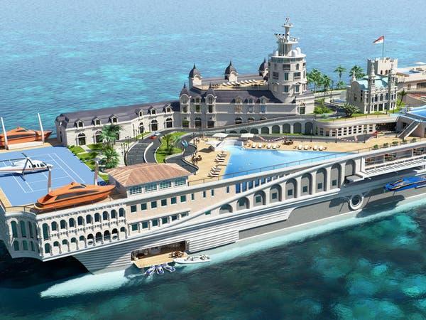 أغلى يخت بالعالم يحمل شوارع موناكو إلى البحر