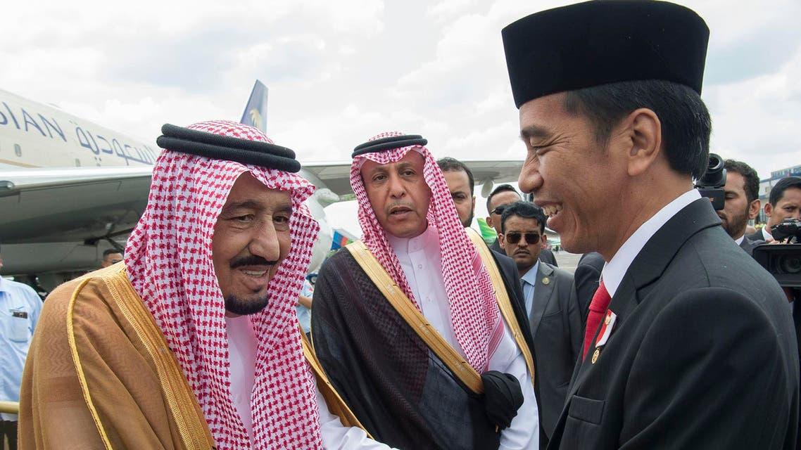 العاهل السعودي إندونيسيا