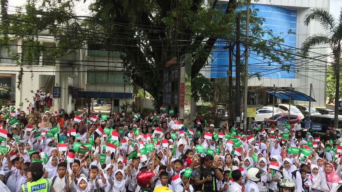 استقبال شعبي للملك سلمان في إندونيسيا 1
