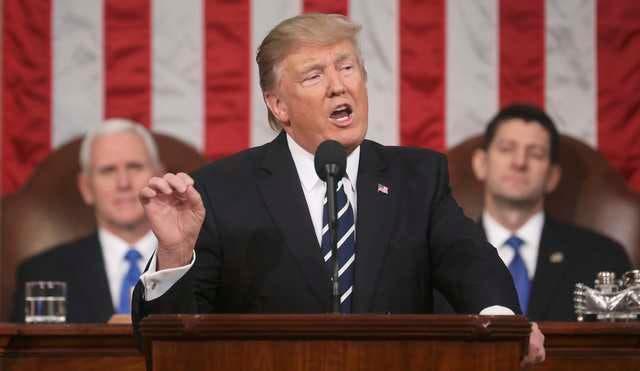 ترمب يلقي خطابه أمام الكونغرس