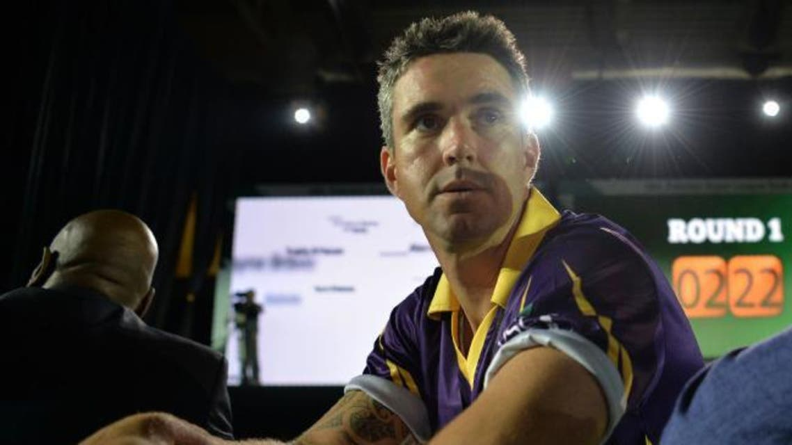 Pakistan Super League (PSL) team Quetta Gladiators, player Kevin Pietersen looks on during second edition of PSL draft in Dubai on October 19, 2016. (AFP)